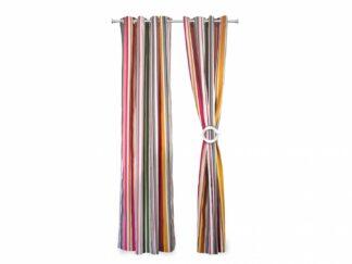 SET 2 curtains 140X270 CM - Pink Stripes