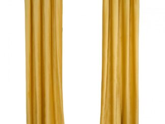 Set of 2 velvet curtains 140x270 cm - Yellow