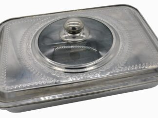 OVEN TRAY WITH LID, STAINLESS STEEL, 39x29x7 CM
