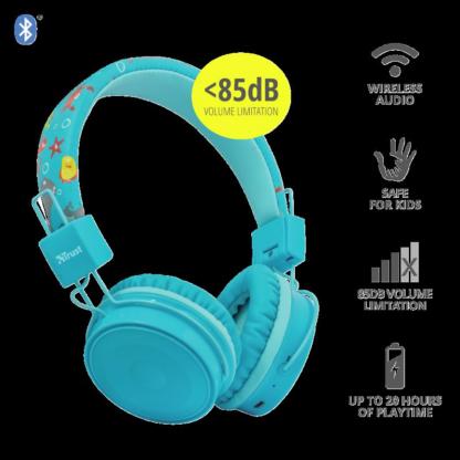 Trust Comi BT Kids Headphones - Blue