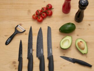 KITCHEN KNIVES SET, 6 PIECES, STONE