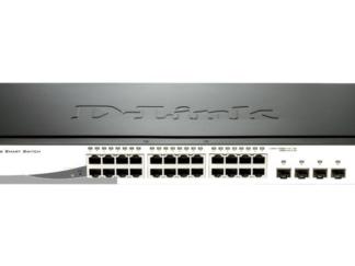 DLINK SW 24P-GB 4CMB 12P-POE SMART RM