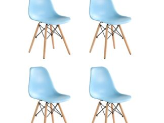 SET OF 4 PIECES BLUE TRULY CHAIR