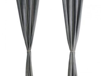 Set of 2 velvet curtains 140x270 cm - Gray