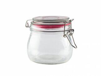 Glass storage jar with lid 500 ML