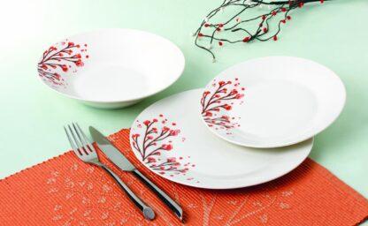 TABLE PLATES 18 PIECES PORCELAIN, DALYA