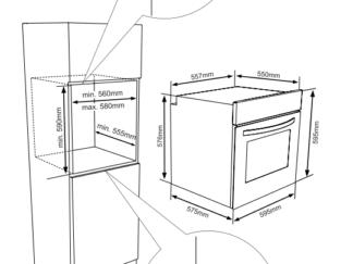 Built-in oven HEINNER HBO-V656G-IX