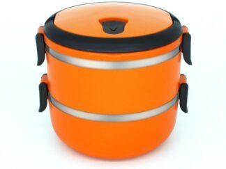 DOUBLE THERMAL PAN, 2x0.7L, ORANGE