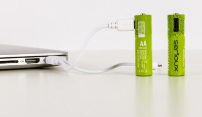 SET 2 batteries MICROUSB SERIOUX AAA