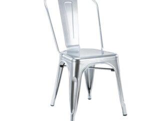 Silver metal retro chair