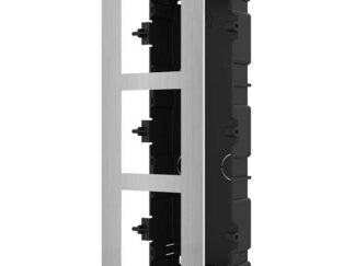 Recessed front panel for 3 modules