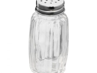 SALT / PEPPER CONTAINER, GLASS + STAINLESS STEEL, 45ML