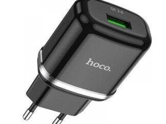 Charger Hoco N3 Vigor 1xUSB Black