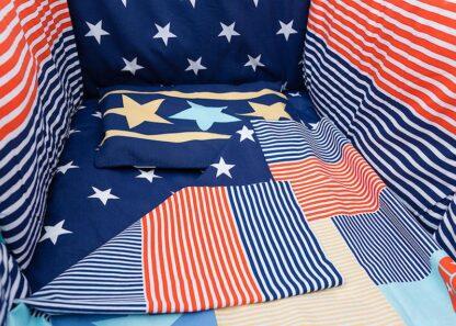 Printed bed linen Stars (5pcs)
