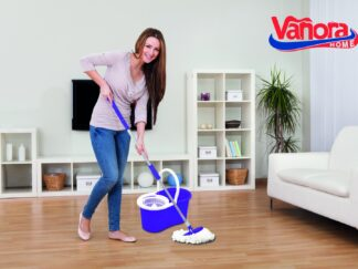 PRIMO CLEANING SET, 360 ROTARY MOP, PURPLE