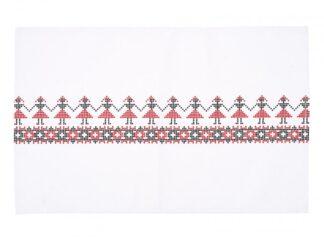 KITCHEN TOWEL 45X70CM MODEL TRAD RED
