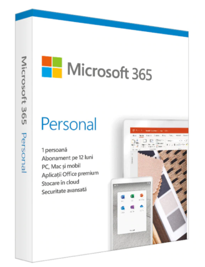 Retail Cloud License Microsoft 365 Personal English Subscription 1 year Medialess P6