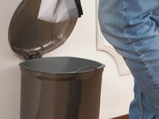 Garbage can with pedal 14L, gray, 23.5X19.5X33 cm