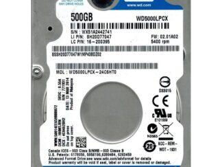 WD HDD2.5 500GB SATA3 WD5000LPCX