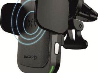 Car grille holder + Swissten black wireless charger