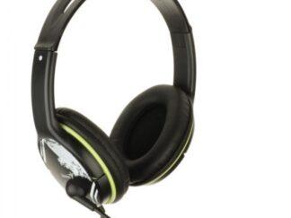 GENIUS HS-400A green microphone headphones