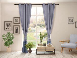 Set of 2 cotton curtains 140x270 cm IAN