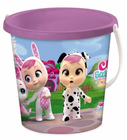 BUCKET SET WITH SAND ACCESSORIES, CRY BABIES