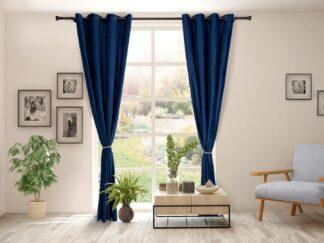 Set of 2 velvet curtains 140x270 cm- White
