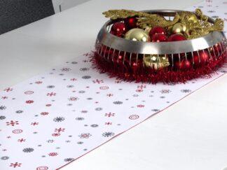 Table crossbar 33X120 CM- snow flakes