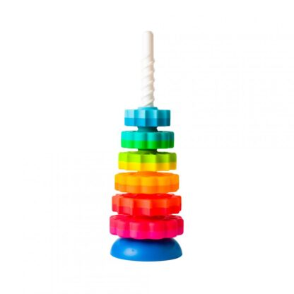 Fat Brain Toy stacking and twisting