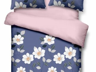 King size Micro Blue Daisy bed linen