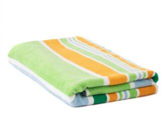 ORANGE STRIPES BEACH TOWEL 70X140CM