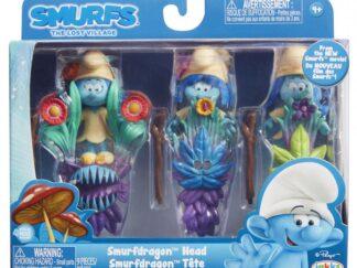Blister Strumfi- 3 figurine with  masca si
