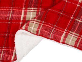 FLEECE BLANKET DIAMOND RED 150X200 CM