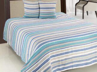 Double bed blanket set 200X220CM BLUE