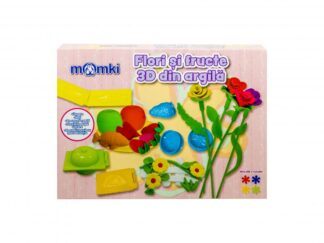 3D clay flowers and fruits