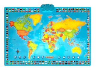 Harta interactiva a lumii bilingv RO-EN