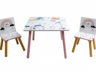 Set of 2 chairs + Super girl desk