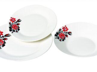 TABLE SET OF 18 PIECES PORCELAIN, MOLDOVA
