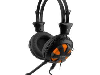 HEADPHONES + MIC A4TECH HS-28 ORANGE / BLACK