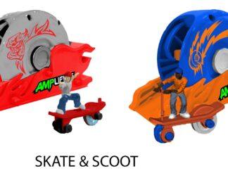 Amplifiers, skateboard / scooter & Launcher