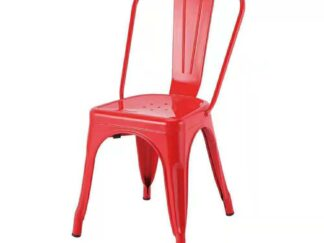 Red metal retro chair