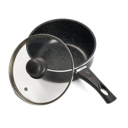 Aluminum casserole + lid 18X8CM, 1.6L, SOLE