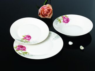 TABLE PLATES 18 PIECES PORCELAIN, ROSALYN