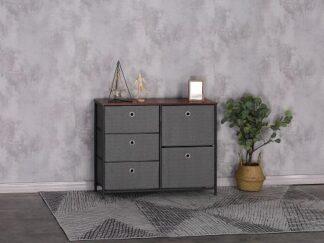 Folding shelf with 5 drawers KIT