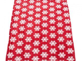 FLEECE BLANKET RED STARS 127X150 CM