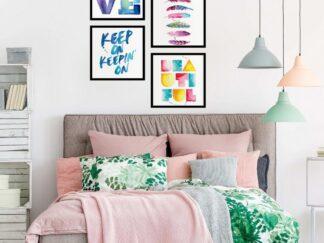 Set of 4 Love decorative paintings