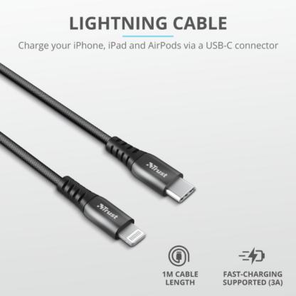 Trust Keyla Strong USB-C To Lightning 1m