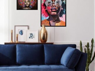 Set of 5 African decorative paintings