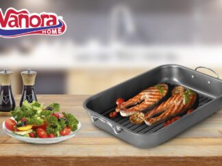 OVEN TRAY WITH GRILL 39x29x6 CM